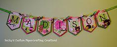CRICUT--Girly Nature Theme Banner  Pink, Green, Brown