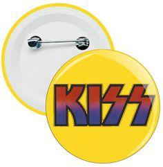 L050 - Botons e Chaveiros - Kiss - Wathsapp: (61) 9 9129-7213