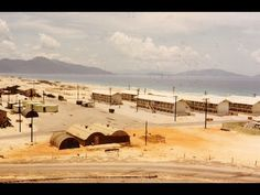 Scenes of Herky Hill, the base, the beach, and a panoramic view of the flight line. Artillery fire is directed at the launch site of a rocket attack. Photo Music Video, Brown Water Navy, Vietnam War Photos, Vietnam Veterans, Da Nang, Usmc, Family History, Stock Footage, Places To Go