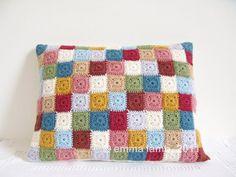 Crochet cushion cover by EmmaLamb