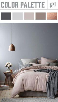 Rust creëer je in de slaapkamer met vergrijsde tinten als grijs en oudroze. Sprankelend door de toevoeging van koper accenten.