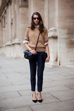無造作な袖まくりがポイント♪ アラフォー(40代)女性向けのスリムデニムコーデまとめ。レディースファッションの参考に☆