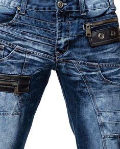 Rokker Rebel Motorrad Jeans 33 Blau L34