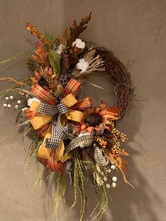 Your place to buy and sell all things handmade Fall Wreaths for front door, Autumn wreath, Fall grapevine wreath, Fall pumpkin wreath, Fall Sunflower wreath for front door by DecoWreathBoutique on Etsy Easy Fall Wreaths, Thanksgiving Wreaths, How To Make Wreaths, Holiday Wreaths, Wreath Fall, Grapevine Wreath, Winter Wreaths, Spring Wreaths, Summer Wreath