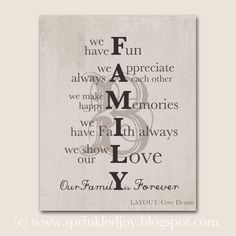 personalized family mission statement