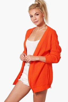 boohoo Amelia Edge to Edge Waffle Cardigan #http://shopstyle.it/l/fpyC #casual#pretty