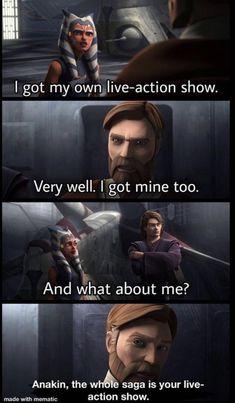 Simbolos Star Wars, Star Wars Meme, Star Wars Comics, Star Wars Rebels, Funny Star Wars, Star Wars Pictures, Star Wars Images, Tableau Star Wars, Prequel Memes
