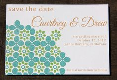 Graphic Petal Save The Date by CameronDolanDesigns on Etsy, $3.50