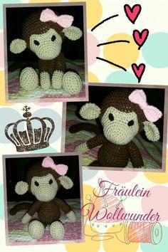 Affe* chimpanse * Mädchen * monkey * girl * gehäkelt * crochet  https://www.facebook.com/fraeuleinwollwunder