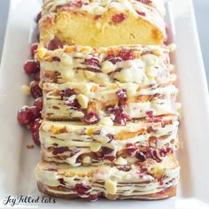 White Chocolate Cranberry Bread - Keto, Low Carb, GF - Joy Filled Eats