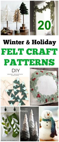 Christmas DIY home decor projects to deck out your walls. Holiday wall art decorating ideas to inspire you and decorate for Christmas and winter on a budget. Easy Felt Crafts, Felt Diy, Rustic Christmas, Christmas Crafts, Christmas Decorations, Christmas Ideas, Christmas Thoughts, Homade Christmas Ornaments, Farmhouse Christmas Decor