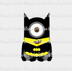 Minion Batman SVG, Studio3, EPS, PNG Digital File – Wickedly Cute Designs