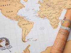 Weltkarte zum Rubbeln von Scratch Map, um 19 Euro