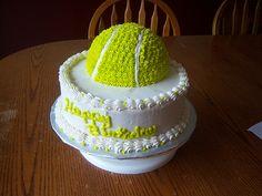 Tennis Ball Birthday Cake cakepins.com