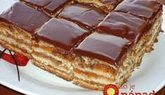 "A delicious cake ""Greta Garbo"" – a recipe for the best confectioners! – New Cake Ideas Baking Recipes, Cake Recipes, Dessert Recipes, Pink Cupcake, Macedonian Food, Gingerbread Cake, New Cake, Polish Recipes, Russian Recipes"