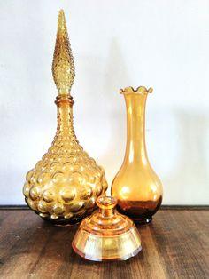 Vintage Glass Genie Bottle