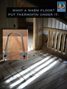 ThermFin U patented extruded aluminum heat transfer plates installed under new flooring - a high performance radiant heating system by Radiant Engineering Inc. radiantengineering.com #radiant #heated #floor #thermofin #log