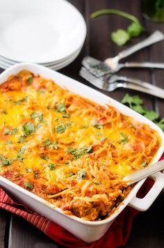 Southwestern Quinoa Pasta Bake recipe. #food