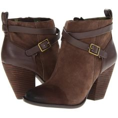 Lucky Brand Yustina Women's Zip Boots, Tan ($76) ❤ liked on Polyvore featuring shoes, boots, ankle booties, tan, zipper boots, tan ankle booties, stacked heel booties, suede boots and faux-suede boots
