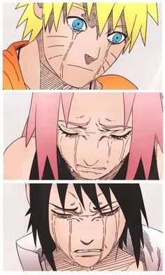 Naruto after Jiraiya's death. Sakura after she realized how much pain she put Naruto through with the promise to bring Sasuke home. Sasuke after finding out the truth about Itachi. | best stuff