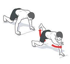 Elevated Bird Dog Reach http://www.menshealth.com/fitness/floor-exercises/slide/2