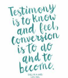 testimony, conversion