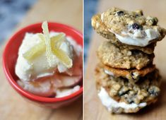 Ginger Ice Cream Oatmeal Cookie Sandwiches
