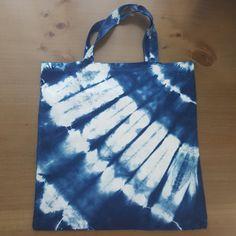 Shibori bag - sustainable bamboo fibre - hand dyed by Grafeeq on Etsy