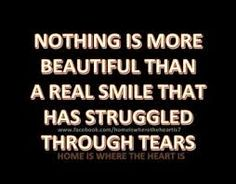 Smile through struggles