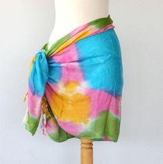 813b579dbb898 Batik sarong beach cover up swimsuit coverups fringe pareo tie dye boho  clothing bathing suit coverup beach wrap boho scarf bohemian vest