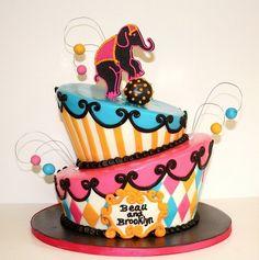 Several gorgeous circus cakes
