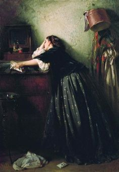 Widow, 1865  Konstantin Makovsky, 1865  Repository unknown