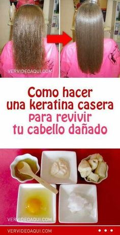 Como hacer una keratina casera para revivir tu cabello dañado #keratuba #queratina #mascarilla #cabello #pelo #dañado #maltratado #revivir #recetassaludables Beauty Tips For Face, Health And Beauty Tips, Beauty Hacks, Diy Beauty, Hair Tips Home Remedies, Curly Hair Styles, Natural Hair Styles, Cabello Hair, Love Your Hair