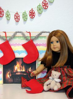 How to make a doll sized fireplace