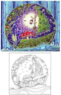 My beloved coloring book^^ Ink artist: Johanna Basford Publication: The Old Lion Publishing House (Vydavnytstvo Staroho Leva) Lviv, Ukraine starylev.com.ua/zacharovanyy-l…
