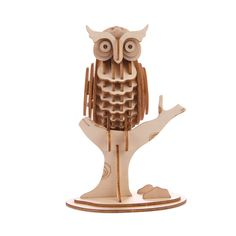 Holzpuzzle in 3D in 6 verschieden Tiermotiven von Kikkerland   promobo.de T Rex, Table Lamp, 3d, Decor, Seahorses, Animal Themes, Hobbies, Owls, Random Stuff
