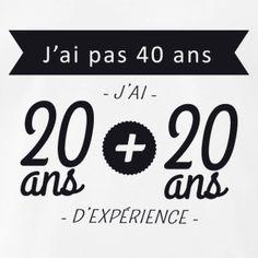 T shirt anniversaire - naissance, 10, 20, 30, 40, 50, 60, 70, 80, 90, 100 ans