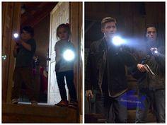 """@JensenAckles @jarpad  @DanneelHarris @realGpad The family business! @cw_spn To be continued..."" by @Danneelovers on twitter ;) ♥◡♥ #Supernatural #Dean #Sam #Winchesters || Jensen & JJ Ackles || Jared & Tom Padalecki"