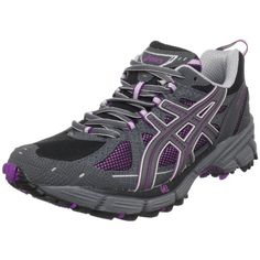 ASICS Womens GELKahana 4 Running ShoeBlackTitaniumOrchid10 M ** Read more reviews of the product by visiting the link on the image.
