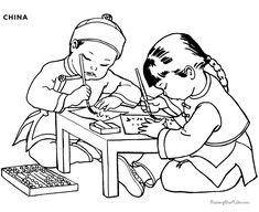 "iColor ""Little Kids Around The World"" ~ China"