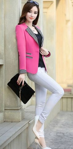 Best New Jacket Blazer For Women Fashion Wear, Girl Fashion, Fashion Dresses, Womens Fashion, Blazers For Women, Jackets For Women, Clothes For Women, Look Blazer, Business Dresses