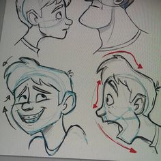 """""""Ok time to sleep. Trying to exaggerate the expressions.  #art #exaggerated #expressions #illustration #doodle #gesture #drawing #draw #tekenen #cartoon…"""""""