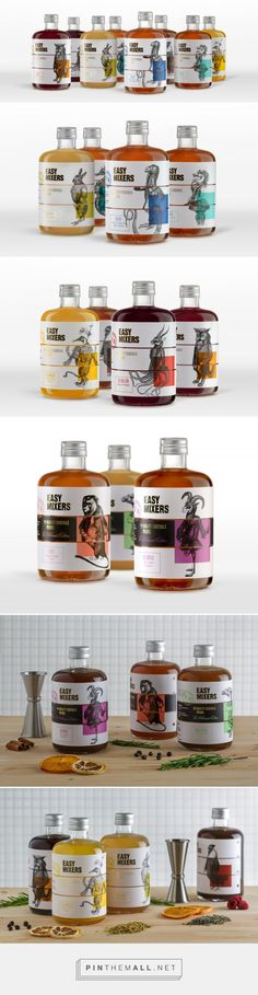 Easy-Mixers on Packaging of the World - Creative Package Design Gallery. - a grouped images picture Honey Packaging, Juice Packaging, Cool Packaging, Beverage Packaging, Bottle Packaging, Brand Packaging, Design Packaging, Label Design, Branding Design