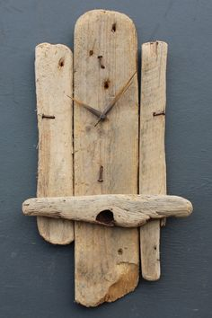 Driftwood Clock Driftwood Wall Clock Drift Wood by JuliasDriftwood