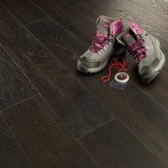 Dark wood flooring throughout the house Custom Woodworking, Woodworking Projects Plans, Teds Woodworking, Dark Wooden Floor, Floors Direct, Engineered Wood Floors, Design Your Home, Wooden Flooring, Hiking Boots