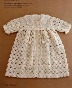 Beautiful Crochet Dress Pattern For Babies 0-12 months. More Great Looks Like This