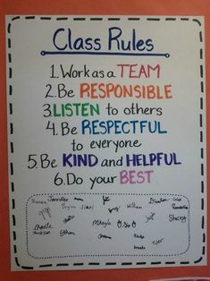 19 Classroom Management Anchor Charts is part of Science Pictures Anchor Charts - Display classroom rules, procedures, expectations for treating others and supplies, and sub behavior policies in these anchor charts! 5th Grade Classroom, Classroom Posters, Classroom Ideas, Elementary Classroom Rules, Kindergarten Class Rules, Classroom Norms, History Classroom, Future Classroom, Highschool Classroom Rules