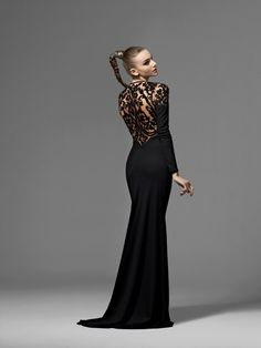 F11-501Vitrall Long Sleeve Gown