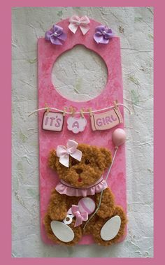 Baby Girl Door Hanger by RFColorfulCreations on Etsy, $8.00