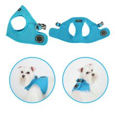 Mesh Soft Harness Vest by Puppia - Sky Blue